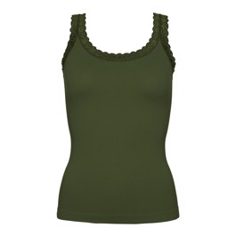 Tim & Simonsen Rib top Army Green