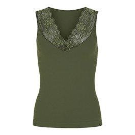 Tim & Simonsen V-lace Top Army green